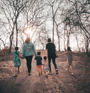 busy season family walk